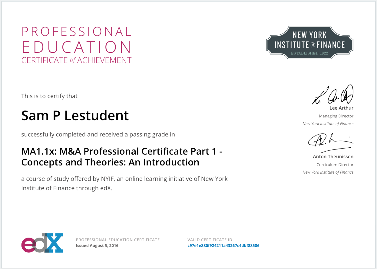 Will My Professional Education Course Have A Different Certificate
